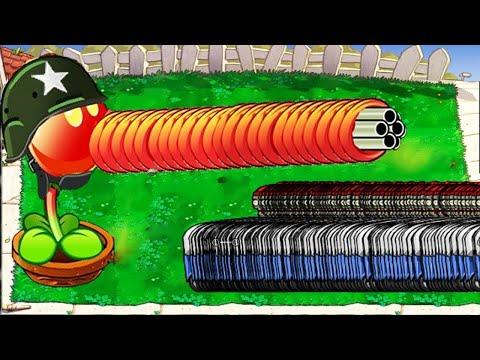 Plants Vs Zombies Batllez Gatling Pea Vs 99 Giga Gargantuar, Zombony, Conehead Zombie