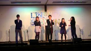 Aquaqua A whole new world LINES フレッシュライブ 2015 5/29 東京外国...