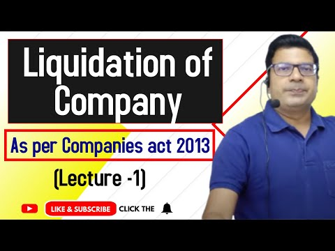 Liquidation of company as per Companies act 2013 lecture 1 by Santosh kumar (CA/CMA)
