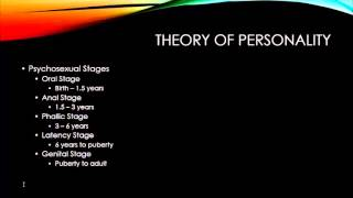 Theories of Counseling - Psychoanalytic Therapy