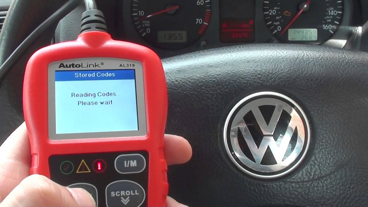 p engine warning light trouble code  sensor vw golf mk youtube