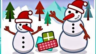 Игры для детей. Пазлы Новый год, Снеговик, Подарки