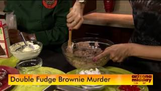 "Double Fudge Brownie Murder ""whippersnapper"" Cooking Demo - Joannefluke.com"