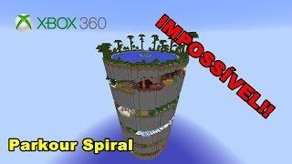 MAPA DE PARKOUR IMPOSSÍVEL - PARKOUR SPIRAL NO MINECRAFT XBOX 360