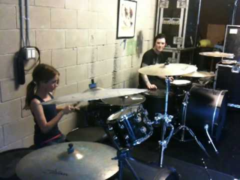 isabels first drum lesson with her cousin trevor