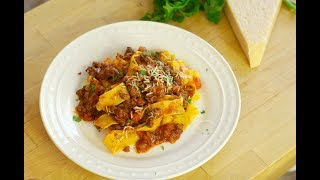 Tuscan Florentine Sauce with Pappardelle Pasta