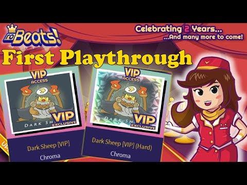 40% Acc. Dark Sheep [VIP] (Normal)&(Hard) | My Worst Session Yet |First Playthrough (RoBeats!)