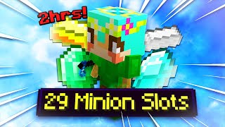 HOW I UNLOCKED EVERY MINION SLOT in 2 HOURS! (hypixel skyblock)