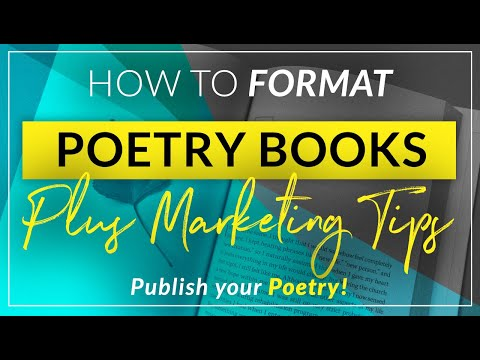 How to format a book of poetry for print and ebook