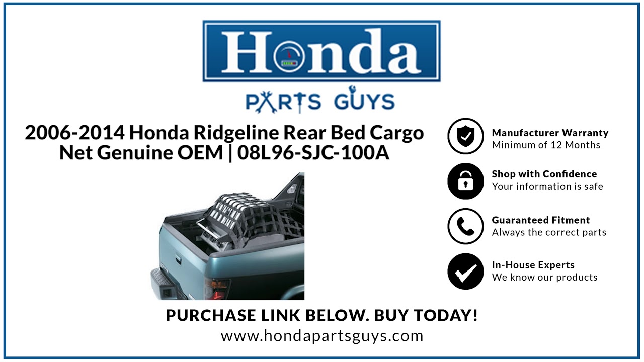 Genuine Honda 08L96-SJC-100A Cargo Net Bed