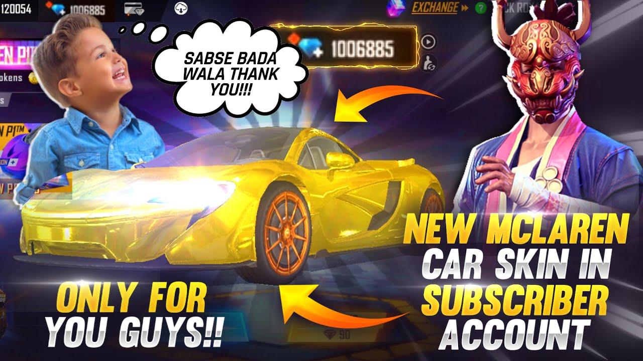 New McLaren Skin In 1💎Diamond To My Subscriber Account 😍 Buying 40,000 Diamonds - Garena Free Fire