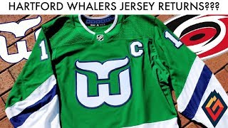 Carolina Hurricanes Reveal NEW Hartford Whalers Throwback! - NHL Jersey Review