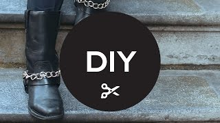 Diy: How To Make Your Own Chain Boots