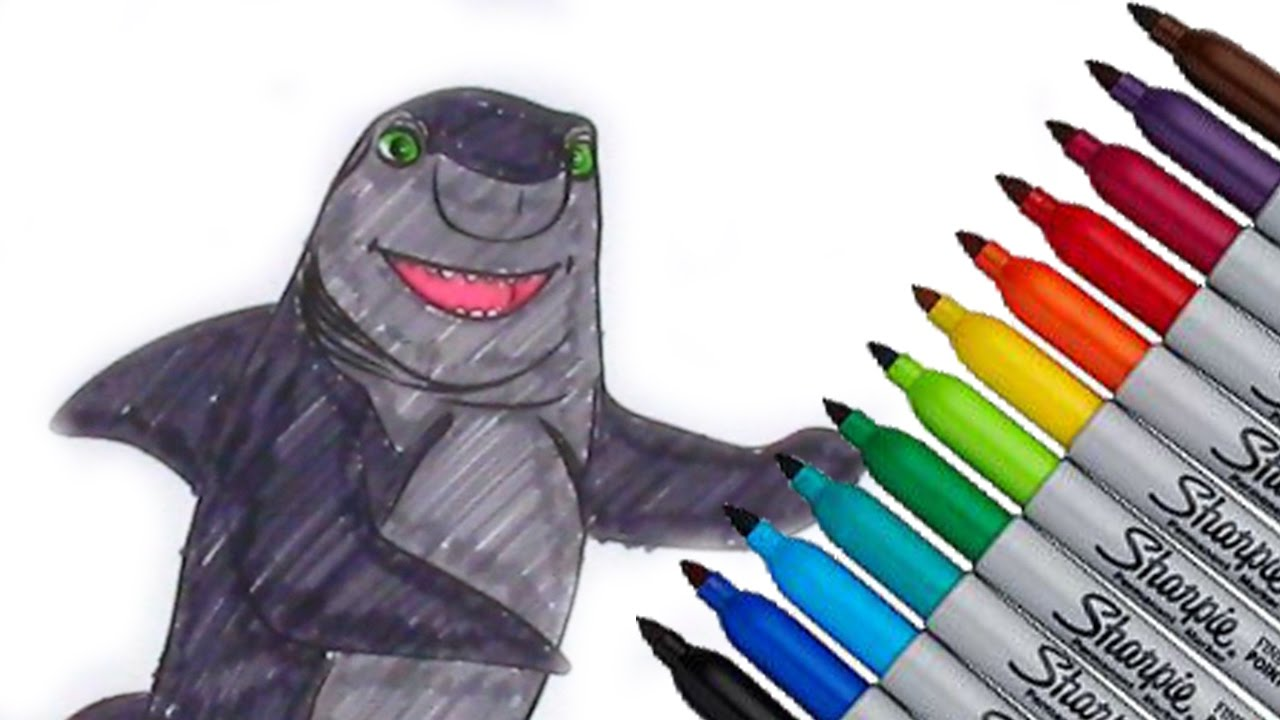lenny shark tale dreamworks animation coloring page 2016 new hd