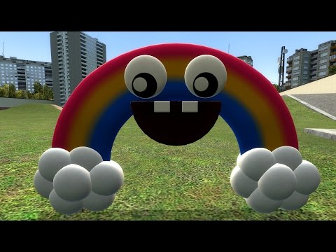 Garry's Mod (GMod) Five Nights at Freddy's (FNAF) World Update 2 Chica's Magic Rainbow