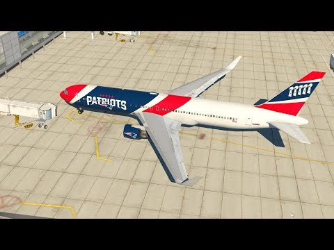 X-Plane 11 - FLYING THE NEW ENGLAND PATRIOTS! [Mexico City to Boston] Boeing 767 w/ Authentic Livery