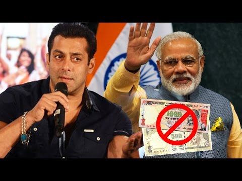 Salman Khan APPLAUDS Modi's BAN On 500 & 1000 Rs Note