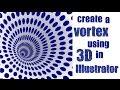 3D Vortex Shape in Illustrator - Spiral