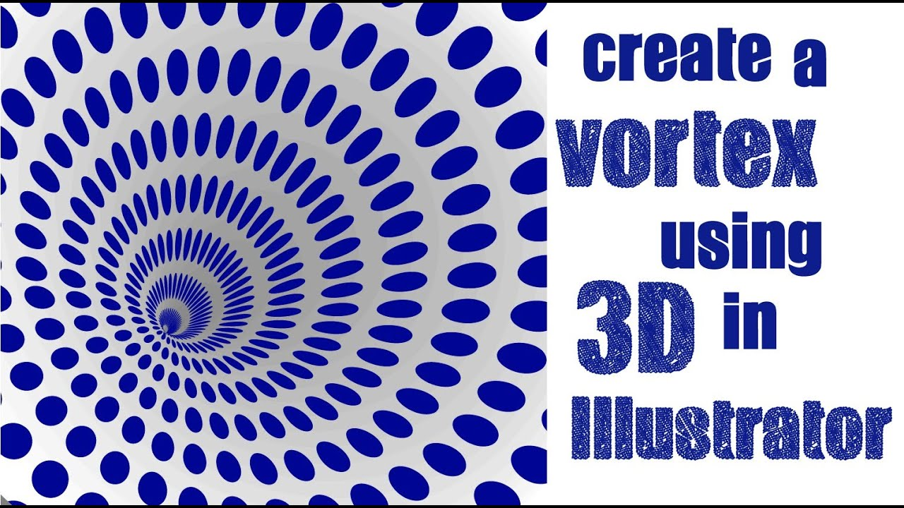Create a 3d vortex shape in adobe illustrator learn to for Make 3d design online