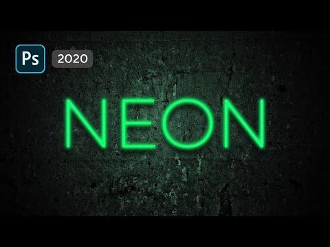 🔥Как сделать неоновый текст в Фотошопе и применить неоновую обводку