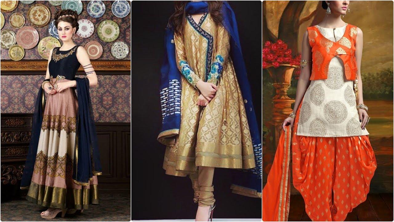 00e70f7e5e best banarasi silk suit designs for girls - YouTube