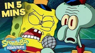 Band Geeks ft. \\\x22Sweet Victory\\\x22 🥁 in 5 Minutes! | SpongeBob SquarePants