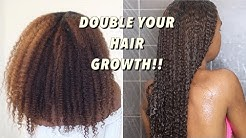 How to Double your Hair Growth every single month + Guaranteed Length retention   Natural Hair