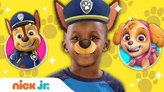 PAW Patrol Style Junior Dress Up w/ Marshall, Chase, Skye, Rubble, Tracker & Everest 🐾 | Nick Jr.