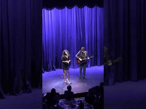 """Rebecca Naomi Jones Sing """"Over The Rainbow"""" with John Gallagher Jr. on Guitar"""
