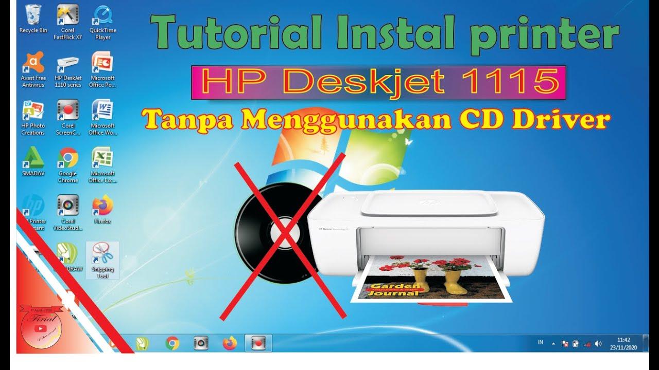 Tutorial Instal Software Printer Hp Deskjet 1115 Tanpa Cd Driver Youtube