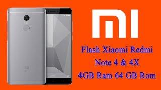 Flash Mi Redmi note 4 & 4X 4GB Ram 64GB Rom Global Fastboot Rom