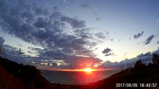 The most amazing sunset over the Lake Michigan! Time lapse video 9-5-2017