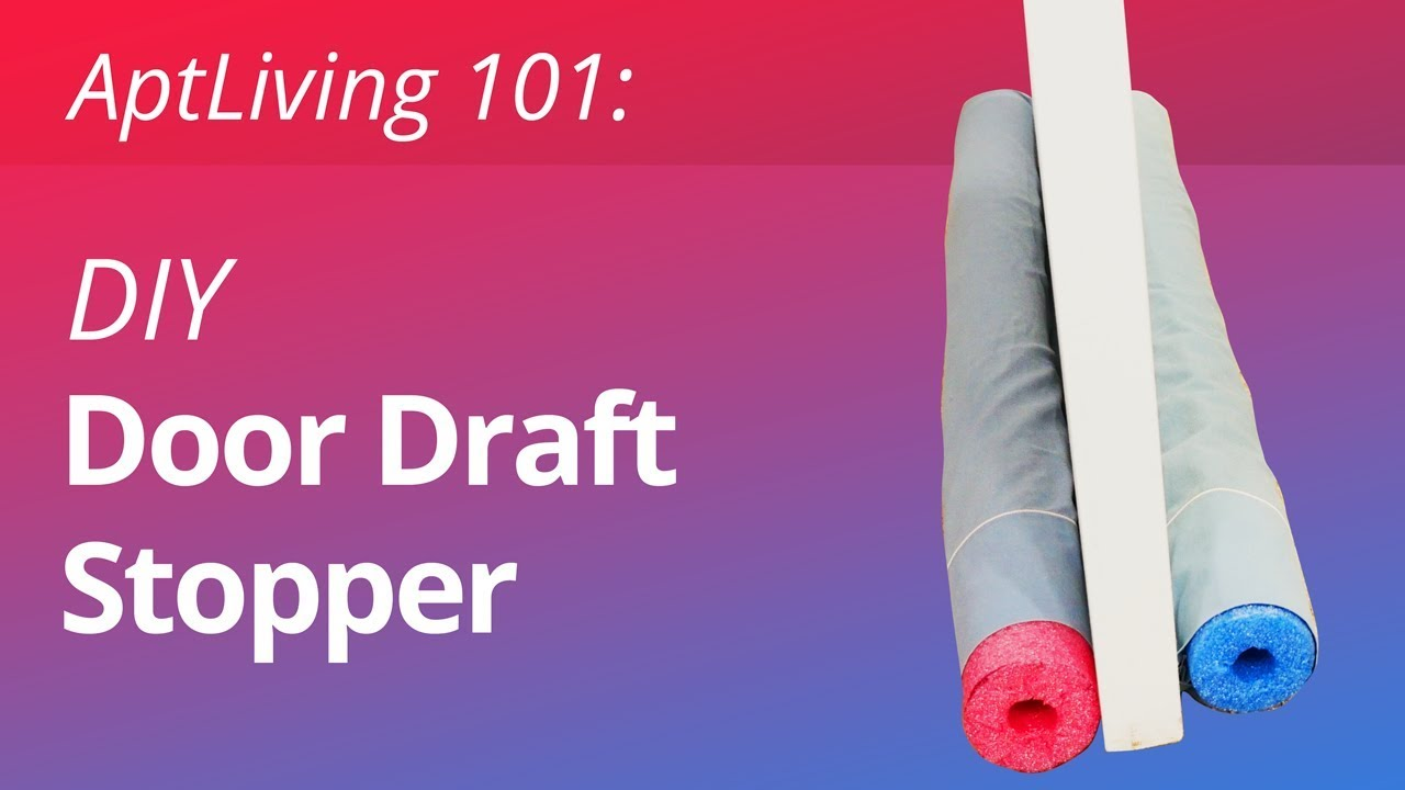 Diy Door Draft Stopper Youtube