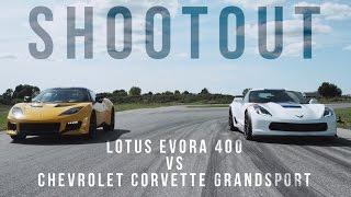 Shootout: Chevrolet Corvette Grand Sport vs. Lotus Evora 400