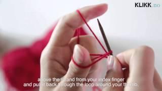 Strikkekurs: Legge Opp Masker / Knitting Tutorial: How to Make a Long Tail Cast On