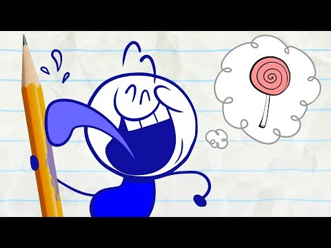 Pencilmate Steals Candy! -in- LOLLIGAGS - Pencilmation Cartoons for Kids