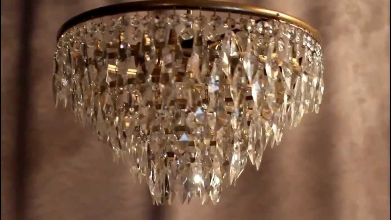Kronleuchter Jugendstil ~ Antik kristall kronleuchter deckenlüster lampe jugendstil messing