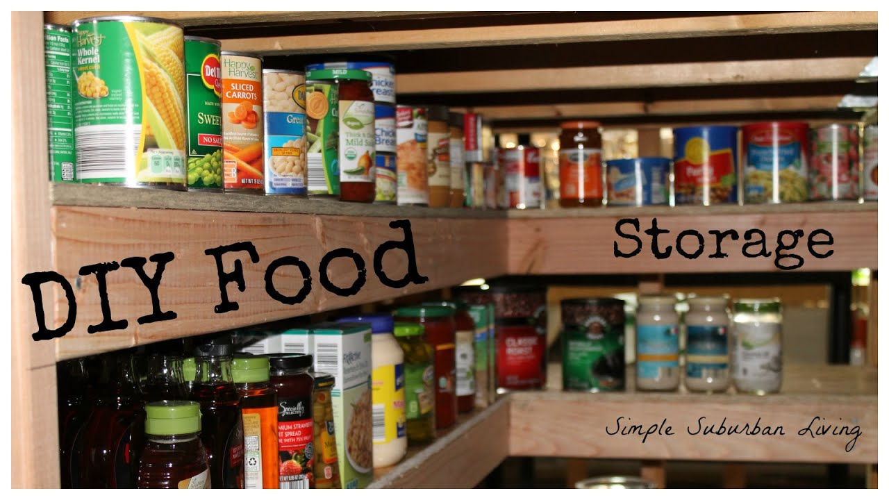Diy food storage pantry save time save money buy bulk for Best ways to save money when building a house