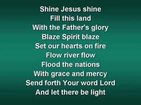 Shine Jesus Shine (worship video w/ lyrics)