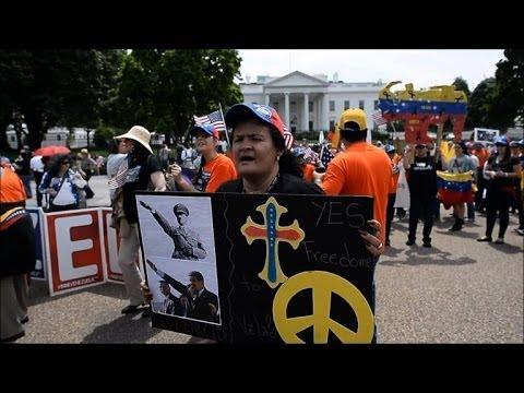 Venezuelans in US demand sanctions against Caracas