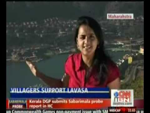 Raksha Shetty From CNN IBN Discovers Support For Lavasa From Locals.wmv