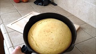Cast Iron Skillet Cornbread! Grandma's Recipe And How To Bake It