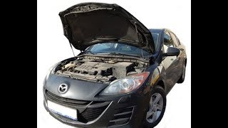 Установка газового упора капота Mazda 3 (BL)