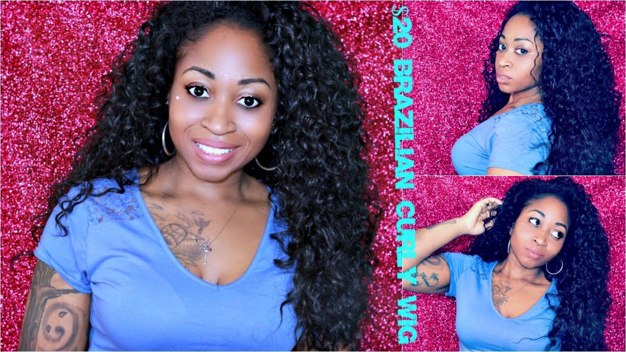 Blending Natural Hair With Curly Half Wig