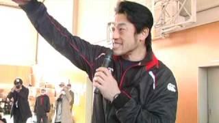東日本大震災後、3月23日日に避難所にアントキノ猪木さんが 来てみんな...