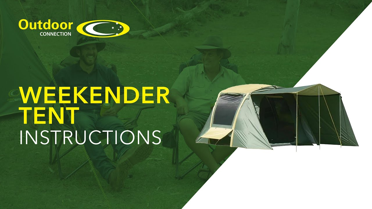 sc 1 st  YouTube & Weekender Tent Instructions from Outdoor Connection - YouTube
