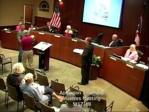 Anderson Township Trustees Meeting 5/17/18