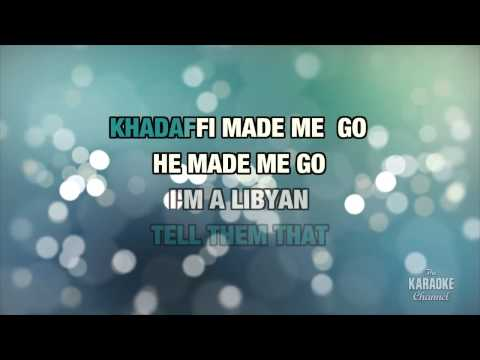Folk Music (Libyan On A Jet Plane) in the style of Pinkard & Bowden | Karaoke with Lyrics