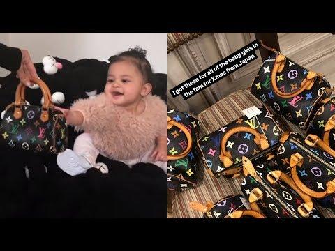 Kim Kardashian Buys Baby Stormi & All The Babies In Her Family Louis Vuitton Bags!