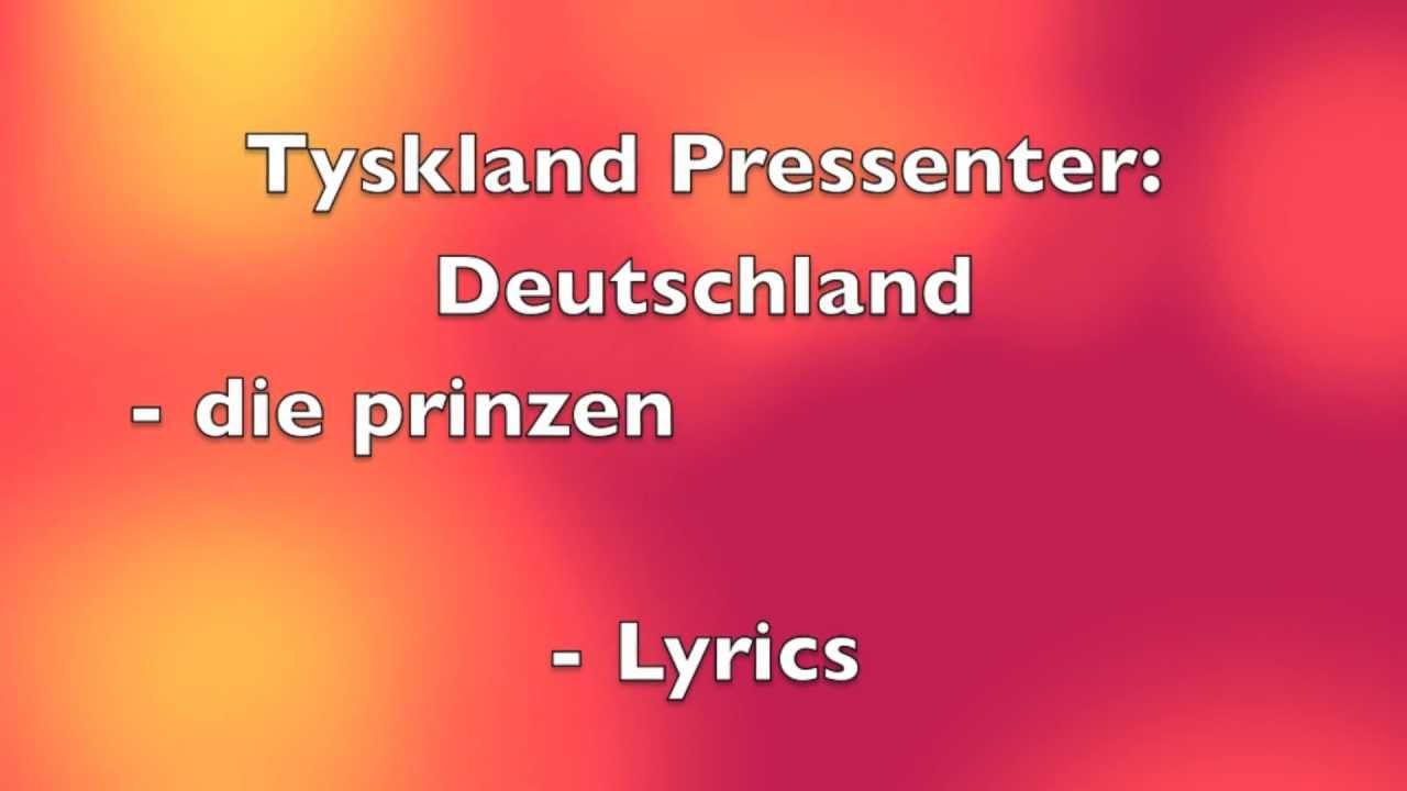 Deutschland Dansk Lyrics